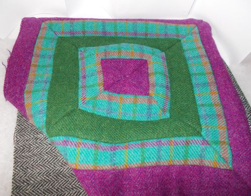 Quilted Cushion with the Harris Tweed Jelly Roll Autumn (KIT)