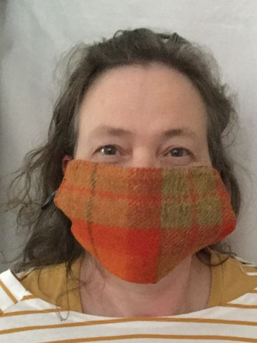 Harris Tweed Face cover.   A neat and tidy facecover that fits adults
