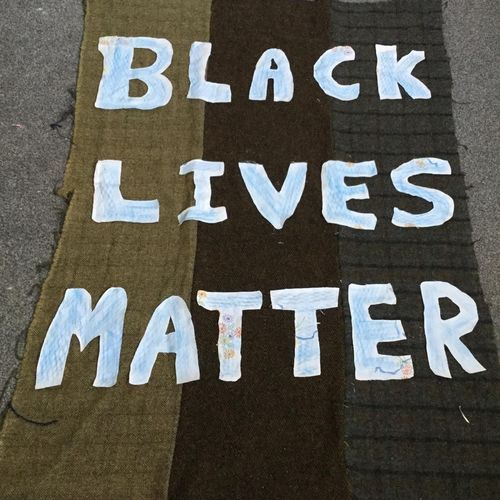 Protest Banner Black Lives Matter External Exhibition An Lanntair Summer 2020
