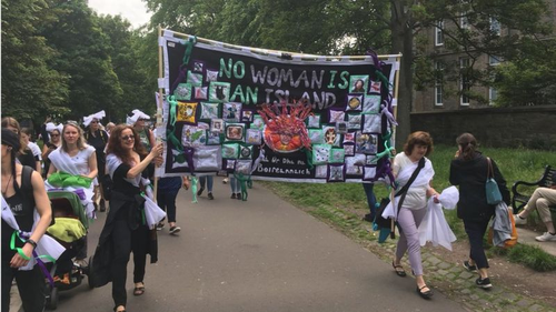 Protest Banner 'Women's March' Summer 2018 External Exhibition An Lanntair